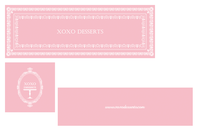 Two Signs: Portfolio | XOXO Desserts